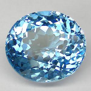 Topaz Gem, Oval-Swiss-Blue