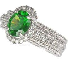 Garnet-Demantoid Ring