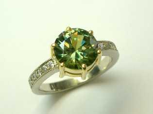 Garnet, Andradite, Demantoid ring(1)