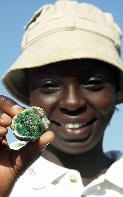 Happy Tsavorite Miner