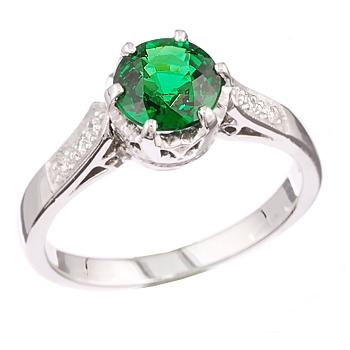 Tsavorite-Garnet, Ring