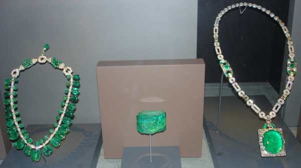 Beryl.  Emeralds..  Indian Necklace, Gachala, McKay Necklace