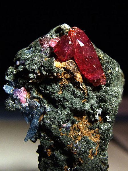 Corundum.  Ruby. Winza Tanzania