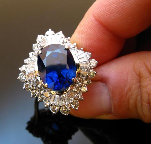 Corundum.  Sapphire Ring, 14.3c.