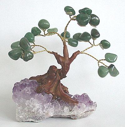 Aventurine Tree on Amethyst.  4-in., $10.  bestcrystals.com