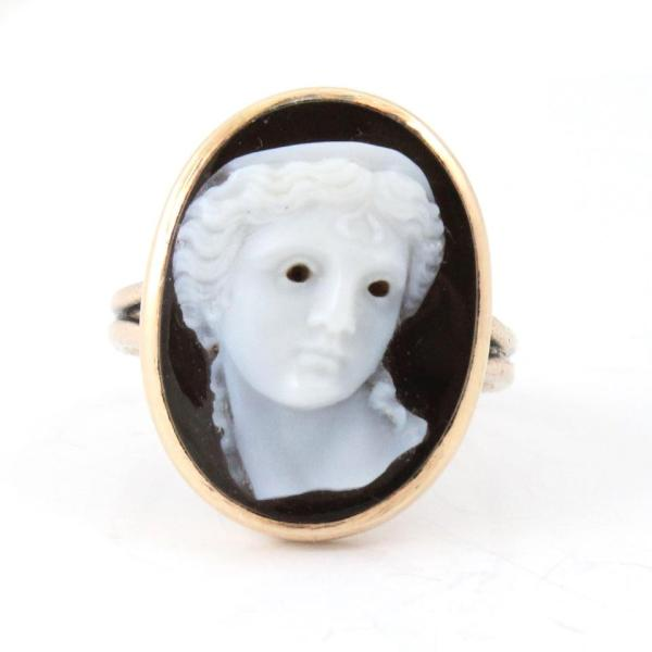 Onyx Cameo Ring, Ageless Heirlooms