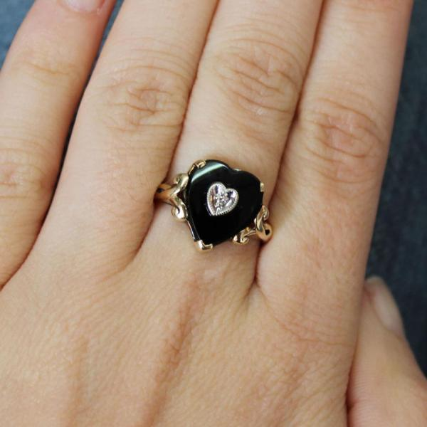 Onyx, My Mothers Ring, Ageless Heirlooms