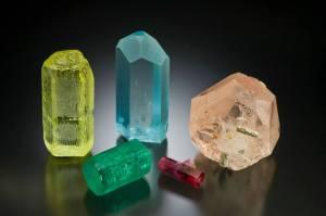 Assortment of Beryl Crystals