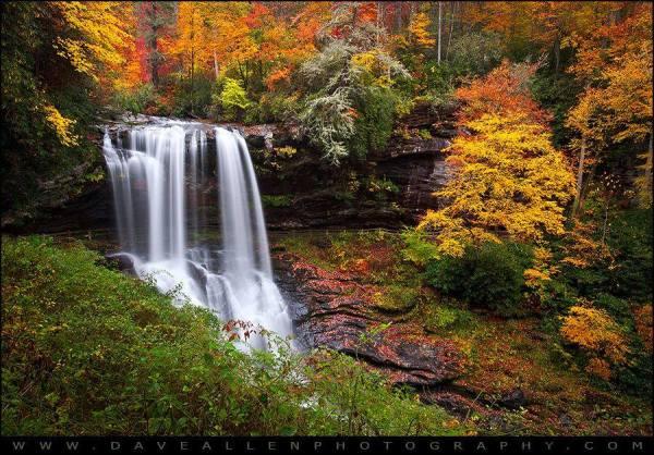 Dry Falls, Highlands, NC.  Allen Photo.