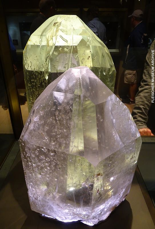 1.  Topaz Crystals, 70 and 111 pounds, Brazil
