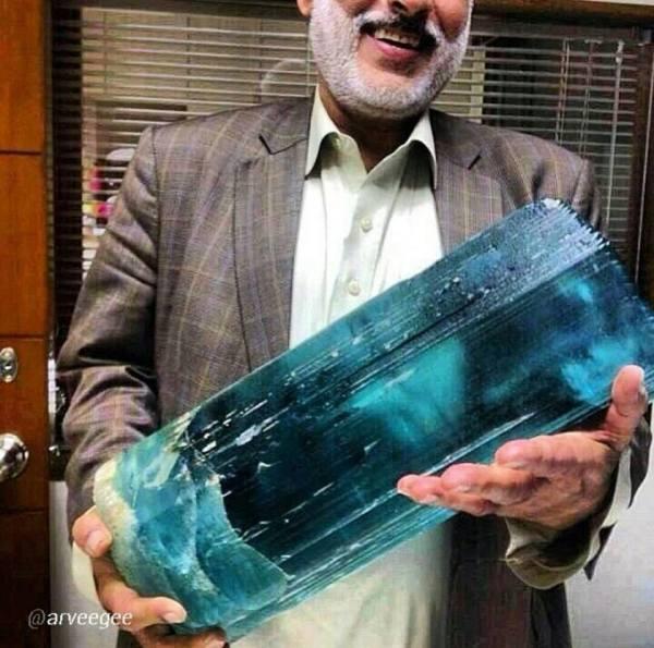 2.  Aquarmarine (Beryl) Crystal