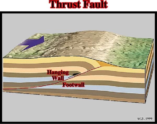 2.  Thrust Fault