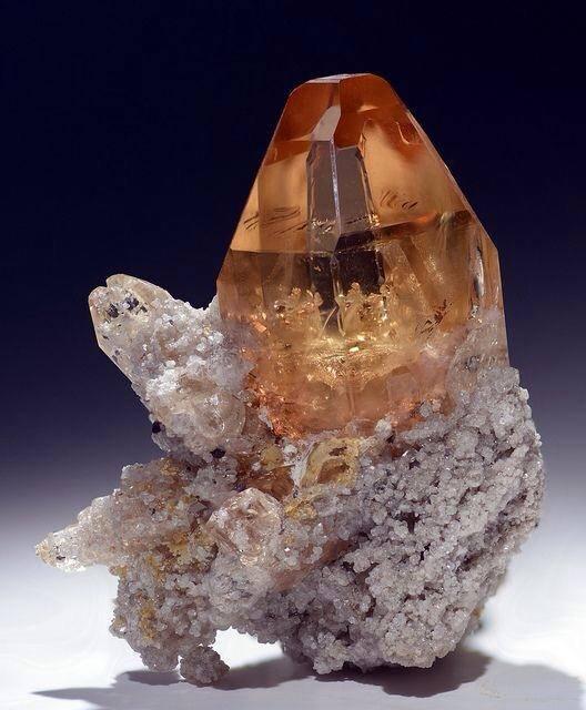 4.  Golden Topaz Crystal