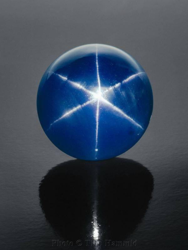 8.  Sapphire (Corundum), Star of Assia Sapphire, 330 c., Burma
