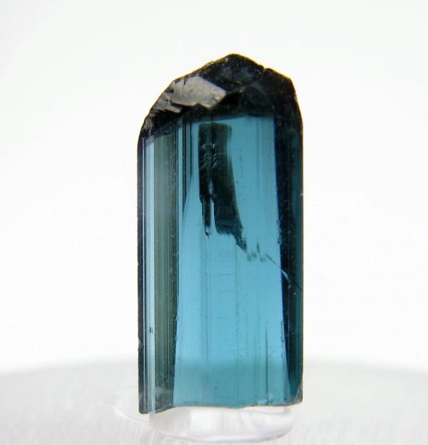 8.  Indicolite Tourmaline Crystal. Otjua Mine, Namibia. by Stefan Koch