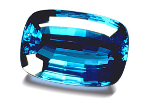 9.  Indicolite Tourmaline Faceted. All-Gem-Stones