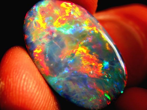 4.  Opal, Black, 16.42cts. Lightning Ridge, NSW, Australia. by Daniel Mekis