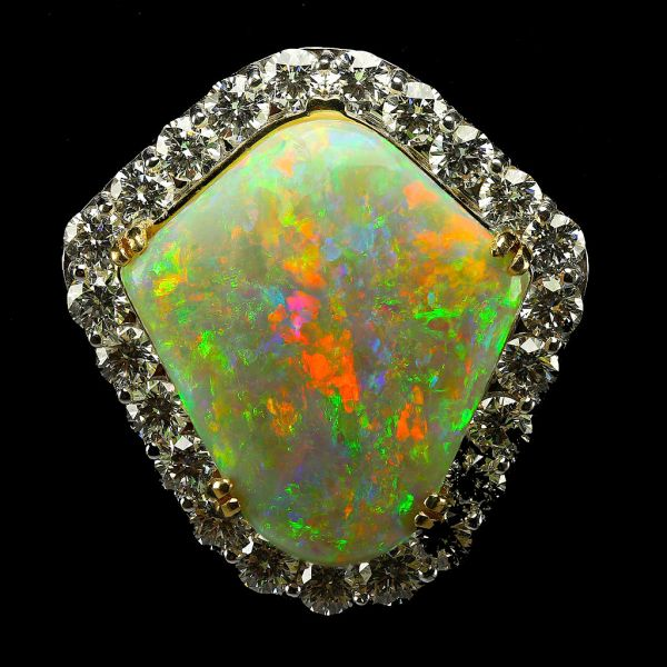 5.  Opal, Rainbow Shield Mintabie Pendant. 25.61c. Mintabie, S. Australia. by Dpulitzer