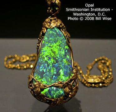 6.  Opal Gemstone Pendant.  Smithsonian