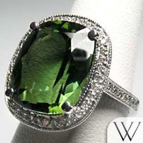 10.  Tourmaline, Verdelite, Tourmaline Diamond Ring. by unknown