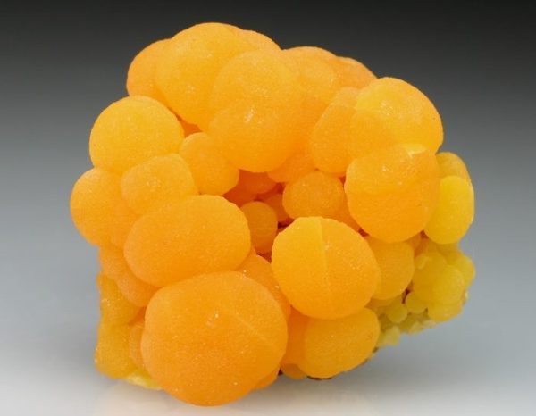 6.  Mimetite (lead arsenic chloride mineral).  San Pedro Corralitos Mine, Mexico.  by Paul Oglesby