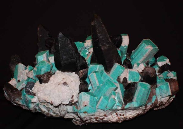 4..  Amazonite - Smoky Quartz.  Colorado.  by Dorris Family,  Pinnacle 5 Minerals LLC