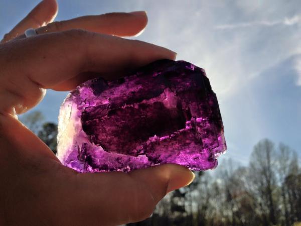 5.  Fluorite, Purple.  by Joseph Wirtz