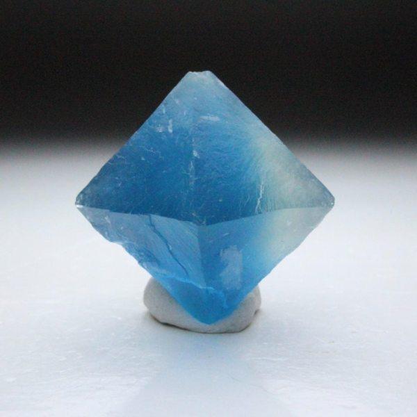 6.  Fluorite, Blue Octahedron.  by Raymond Hall