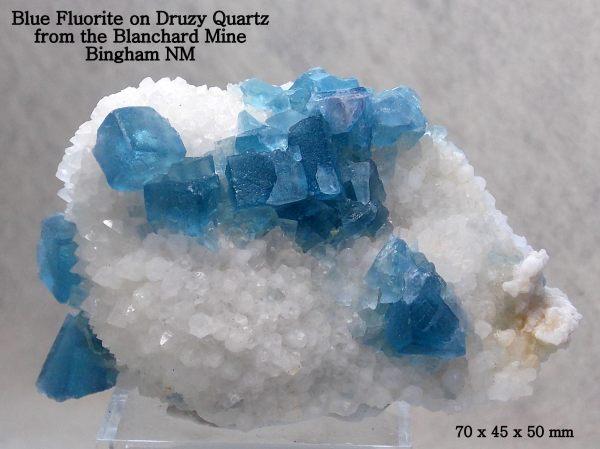 9.  Fluorite, Blue.  Blanchard Mine, NM.  by Sage Chapman