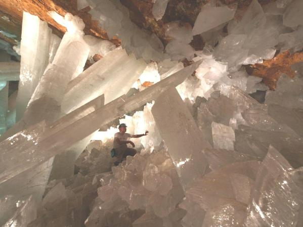 Gypsum Crystals. Cave of Swords, Naica, Mexico.  from www.Galleries.com