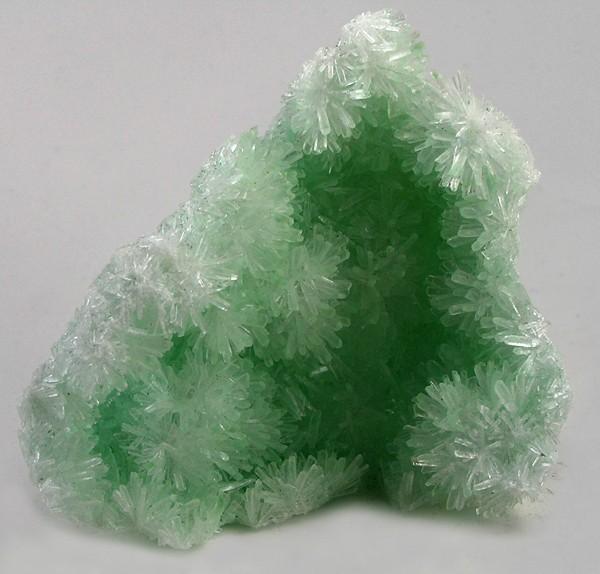 Gypsum-Green Crystals, Permatty Lagoon, Mt. Gunson, S. Australia.  from iRocks by Rob Lavinsky