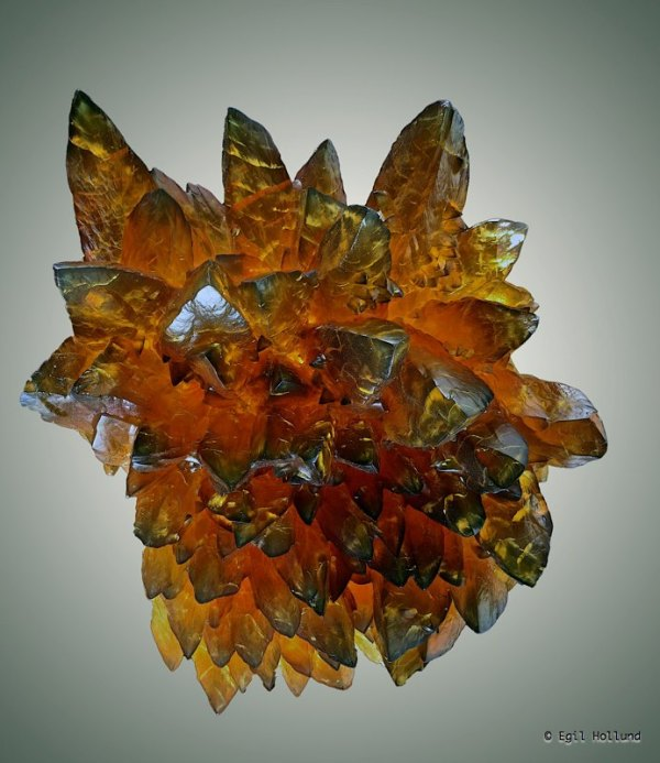 Amber Calcite Crystals, Brevik