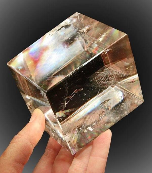Calcite, Icelandic Spar, Cut-Polished. by Robyn Hawk