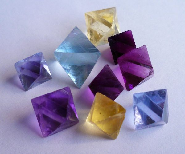 Fluorites, Cleaved Octahedrons, Cave-in-Rock, IL.    unknown