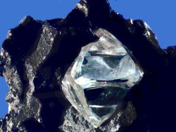 Diamond in Matrix.  USGS.  by Unknown