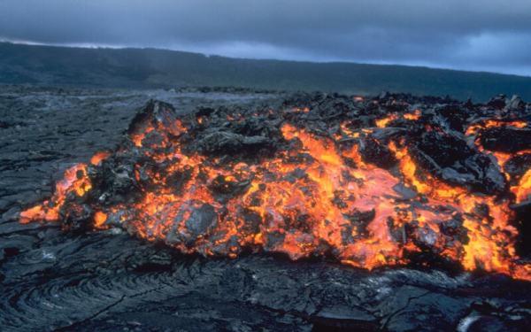 Aa Lava, Kilauea Volcano, Hawaii. 1998. USGS