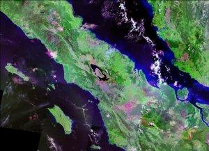 3.7 Supervolcano, Toba. 75,000ya. Nasa Landsat
