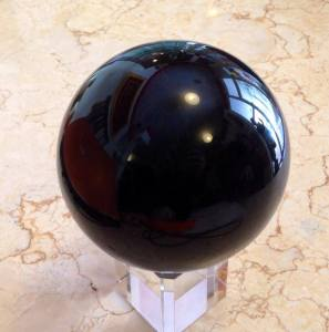 Volcano, Obsidian Sphere. by Unknown