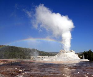 Geyser, Castle Geyser, Yellowstone NP. 2009, by Brocken Inaglory