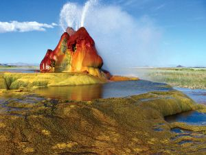Geyser, Fly geyser, Nevada. 2005. by Jeremy Munns