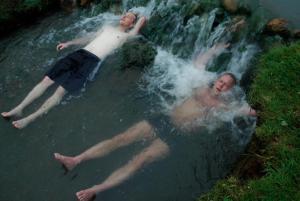 Icelandic Hot Spring w Water Fall.  goecco.com.
