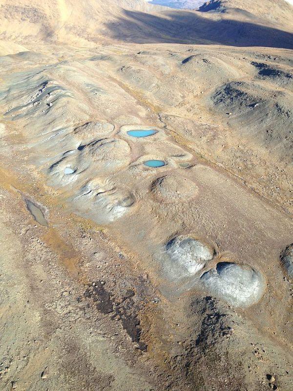 Mud_Volcanos. Nahlin Plateau, Bristish Columbia, Canada. 2013. Hkeyser
