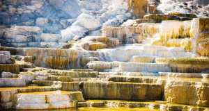 Yellowstone NP, WY, NP, Mammoth Hot Springs, Travertine Terraces. dreamlifereality