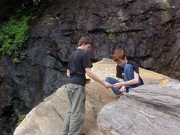 App. Mtns, Garnets at Bridal Veil Falls, NC US64. James-Phillip.2004. REM