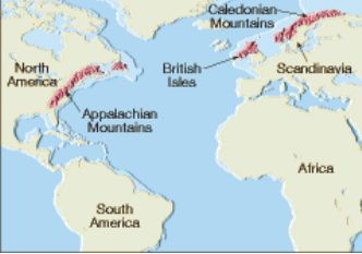 Appalachian Mts.  NA, Scotland, Euroope.  dynamicearthassessmenttask.blogspot.com