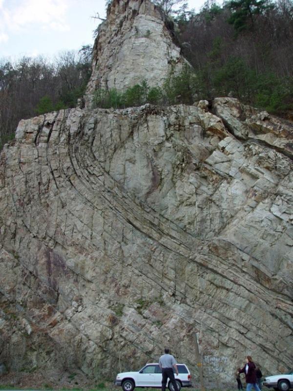 Appalachin Mt. Geology. Eagle Rock roadcut 2