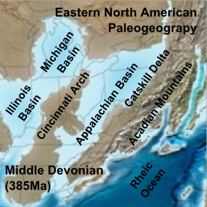 App. Mt.  Eastern_North_American_Paleogeograpy_Middle_Devonian. 2008. Dr. Ron Blakey