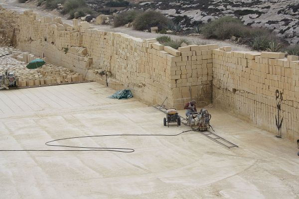 7.  Sedimentary, limestone quarry.. Gozo, Malta.  08-27-2013.  by Bogdan Giusca