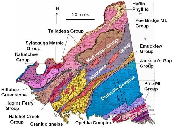 AL Geo. Map, Piedmont