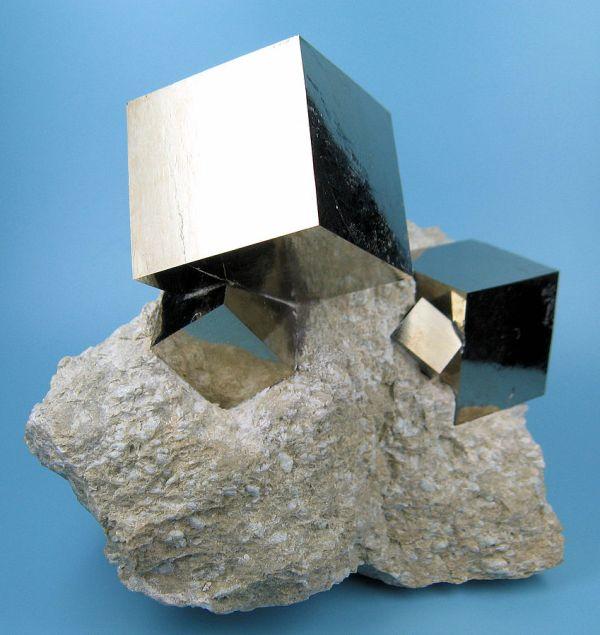 Pyrite Crystals, 31mm. Navajun, Rioja, Spain. 07-24-2009. by CarlesMiilan